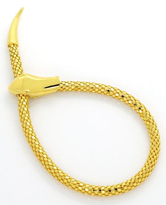 Foto 2, Set Goldkette Goldarmband im Schlangen Design Gelb Gold, R2616