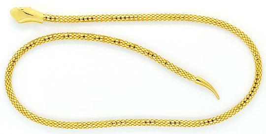 Foto 3, Set Goldkette Goldarmband im Schlangen Design Gelb Gold, R2616
