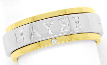 Foto 1 - Piaget Possession Spielring MAY BE YES NO mit Diamanten, R2619
