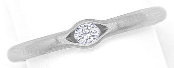 Foto 1 - Niessing Ring 0,12ct eingespannter Brillant, 950 Platin, R2633