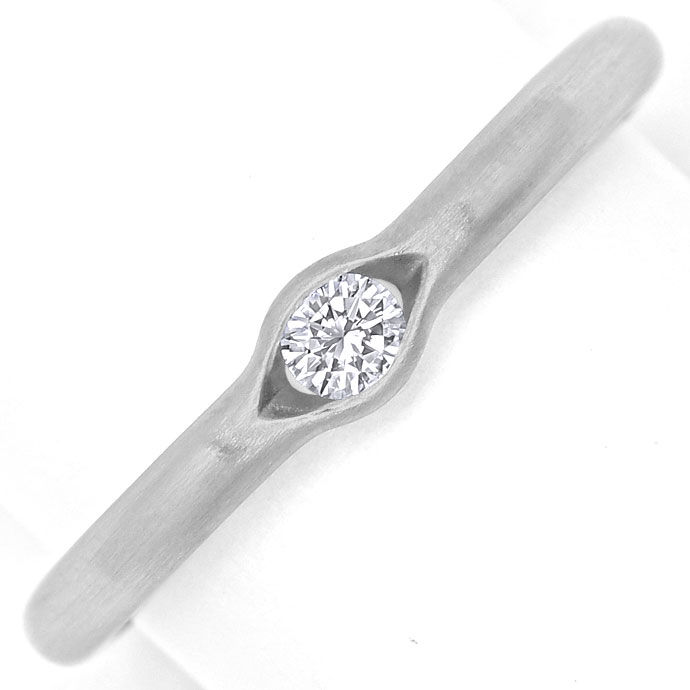 Foto 2 - Niessing Ring 0,12ct eingespannter Brillant, 950 Platin, R2633
