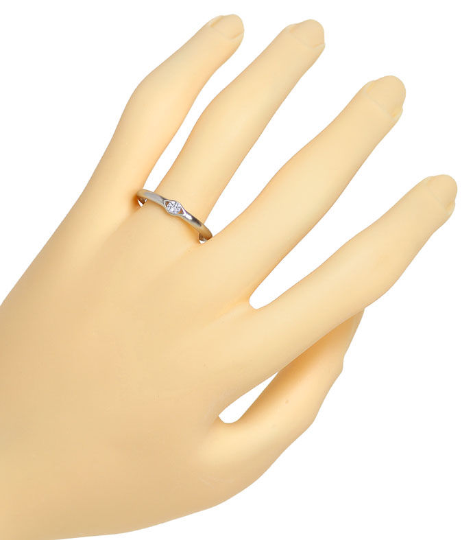 Foto 4 - Niessing Ring 0,12ct eingespannter Brillant, 950 Platin, R2633