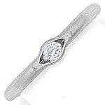 Niessing Ring 0,12ct eingespannter Brillant, 950 Platin