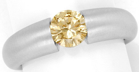 Foto 2, Brillantring 0,75ct Fancy Yellowish Brown HRD-Expertise, R2813
