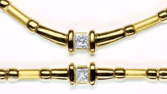 Foto 3, Schmuck Set Collier und Armband, Princess Diamanten 14K, R2814