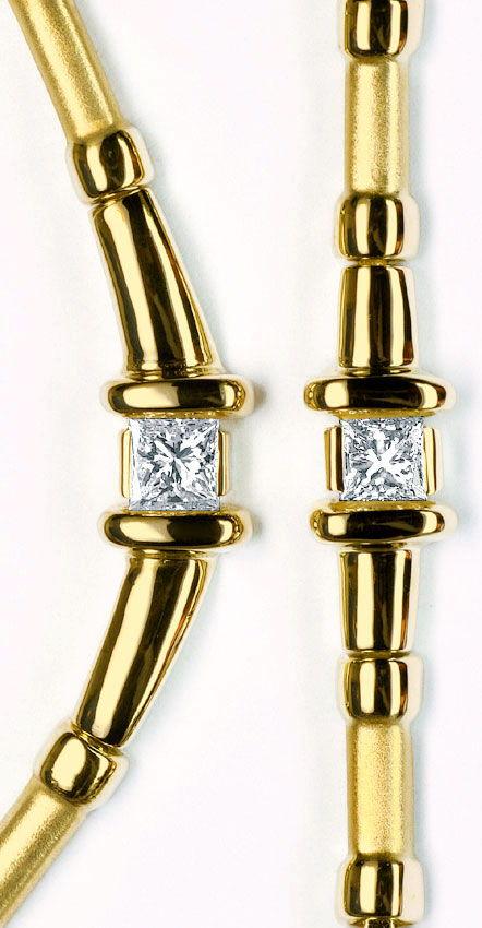 Foto 5, Schmuck Set Collier und Armband, Princess Diamanten 14K, R2814