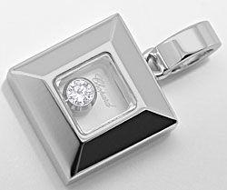 Foto 1, Original Chopard Happy Diamonds Anhaenger 18K Weissgold, R2819