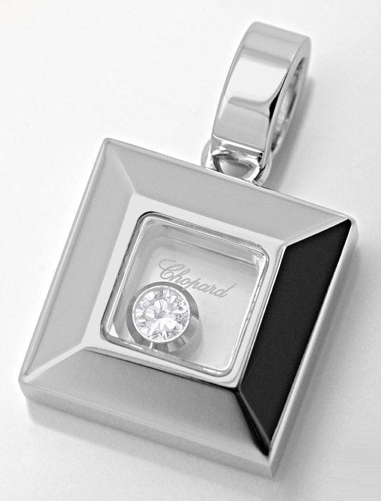 Foto 2, Original Chopard Happy Diamonds Anhaenger 18K Weissgold, R2819