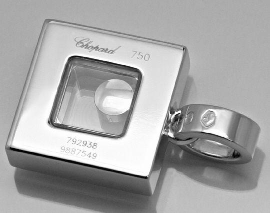 Foto 3, Original Chopard Happy Diamonds Anhaenger 18K Weissgold, R2819