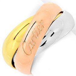 Foto 1, Trinity Les Must.de Cartier Tricolor Goldring Grösse 48, R2825