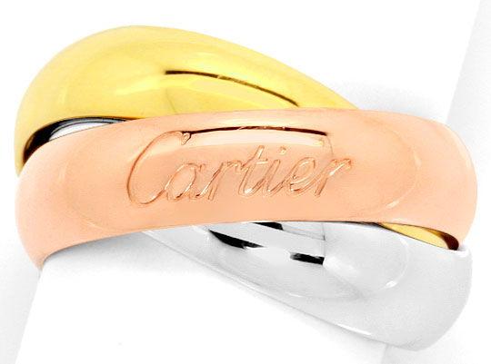 Foto 2, Trinity Les Must.de Cartier Tricolor Goldring Grösse 48, R2825