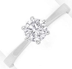 Foto 1, Diamantkrappenring Brillantsolitär Lupenreien Weissgold, R2868