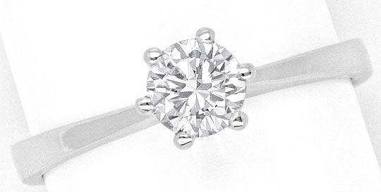 Foto 2, Diamantkrappenring Brillantsolitär Lupenreien Weissgold, R2868