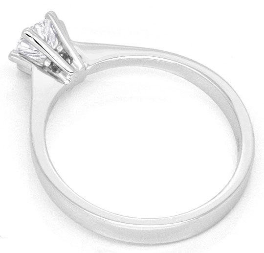 Foto 3, Diamantkrappenring Brillantsolitär Lupenreien Weissgold, R2868