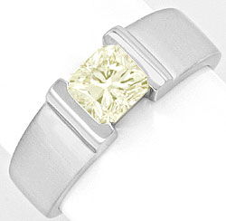 Foto 1, Diamant Ring 1,09ct Rectangular Princessschliff IGI 18K, R2926