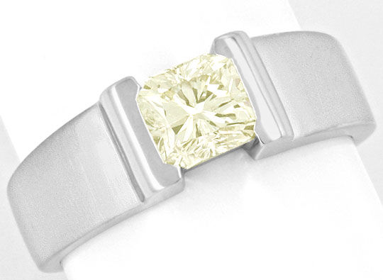 Foto 2, Diamant Ring 1,09ct Rectangular Princessschliff IGI 18K, R2926