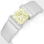 Diamant Ring 1,09ct Rectangular Princessschliff IGI 18K