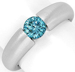 Foto 1, Spannring Brillant 0,70ct Blau Fancy Intense Vivid Blue, R2927