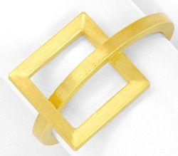 Foto 1, Designer Kollier Designer Ring 18K Gelb Gold Edel Stahl, R2971