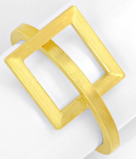Foto 2, Designer Kollier Designer Ring 18K Gelb Gold Edel Stahl, R2971