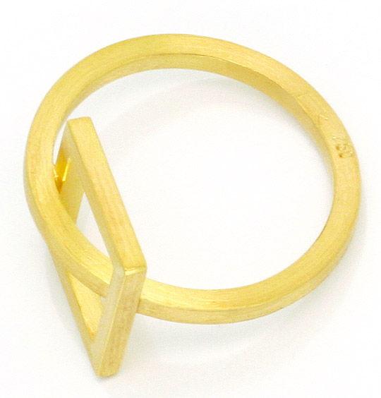 Foto 3, Designer Kollier Designer Ring 18K Gelb Gold Edel Stahl, R2971