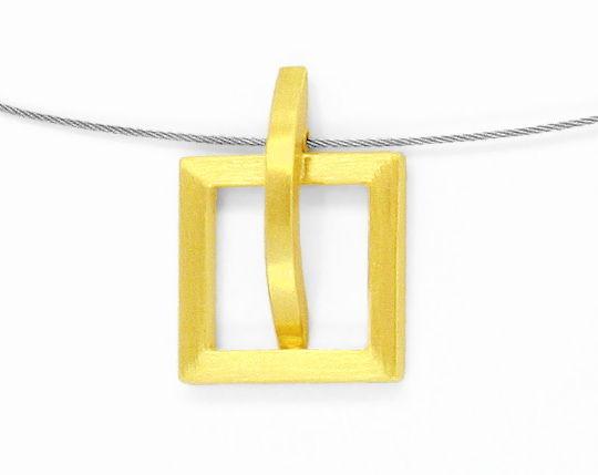 Foto 5, Designer Kollier Designer Ring 18K Gelb Gold Edel Stahl, R2971