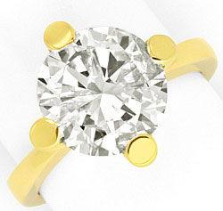 Foto 1, 4,526 Karäter Riesen Brillant Solitär Ring 18K Gelbgold, R3026