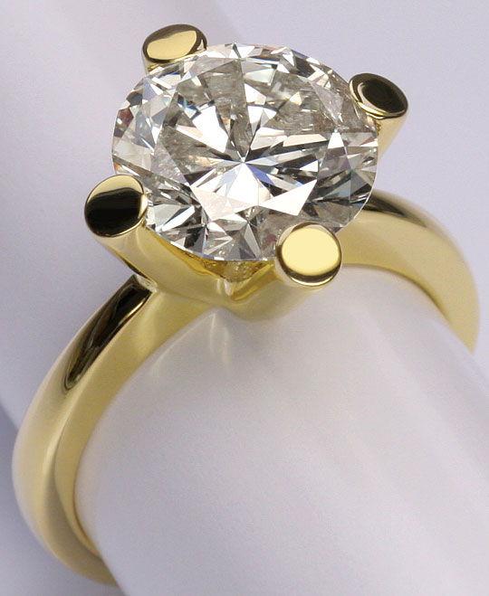 Foto 2, 4,526 Karäter Riesen Brillant Solitär Ring 18K Gelbgold, R3026