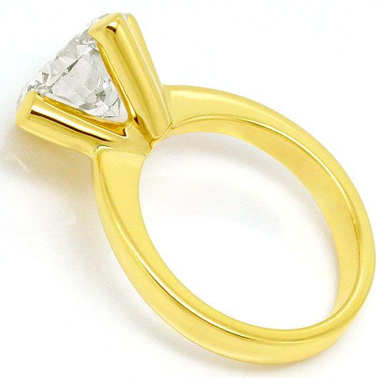Foto 3, 4,526 Karäter Riesen Brillant Solitär Ring 18K Gelbgold, R3026
