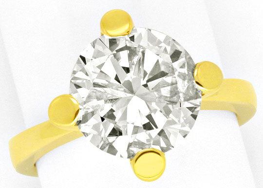 Foto 4, 4,526 Karäter Riesen Brillant Solitär Ring 18K Gelbgold, R3026