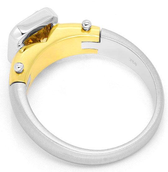 Foto 3, 1,59 Carat Goldbraun Diamantring 18K Gelbgold Weissgold, R3027