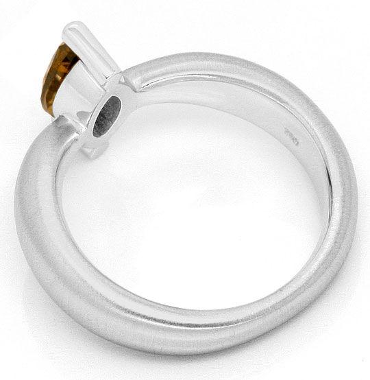 Foto 3, 1,3 Carat Navette Diamant Ring Handarbeit 18K Weissgold, R3030