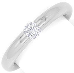 Foto 1 - Niessing Spannring mit 0,25ct Brillant in 18K Weissgold, R3074