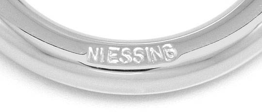 Foto 3, Niessing Spannring mit 0,25ct Brillant in 18K Weissgold, R3074