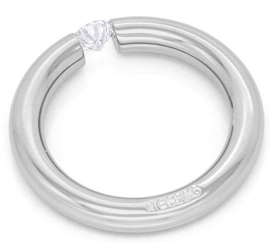Foto 4 - Niessing Spannring mit 0,25ct Brillant in 18K Weissgold, R3074