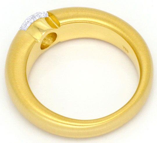 Foto 3, Brillant Spannring 0,92ct Top Wesselton SI 18K Gelbgold, R3076
