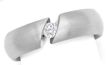 Foto 1, Niessing Spannring Narciss mit 0,18ct Brillant Weißgold, R3192