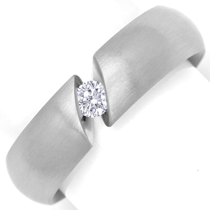 Foto 2, Niessing Spannring Narciss mit 0,18ct Brillant Weißgold, R3192