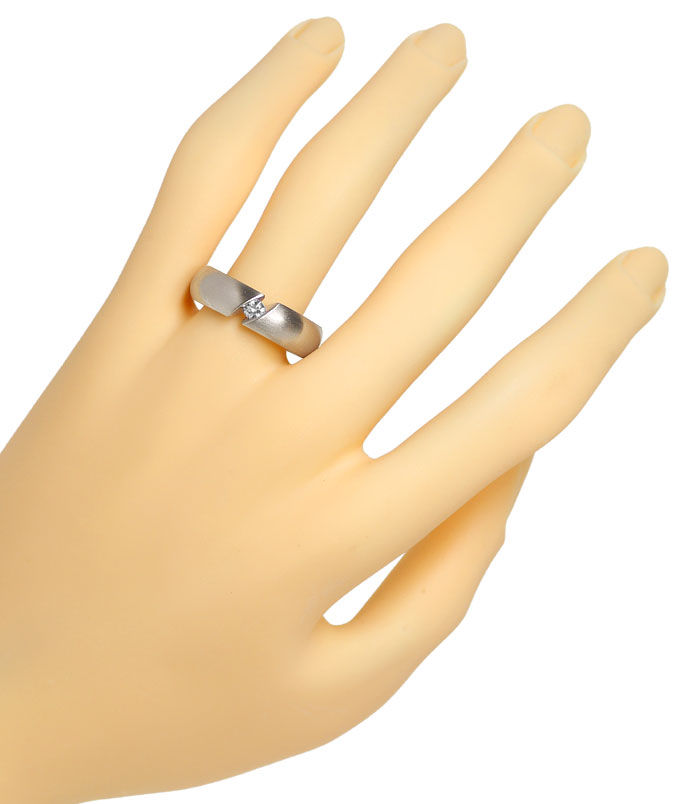 Foto 4, Niessing Spannring Narciss mit 0,18ct Brillant Weißgold, R3192