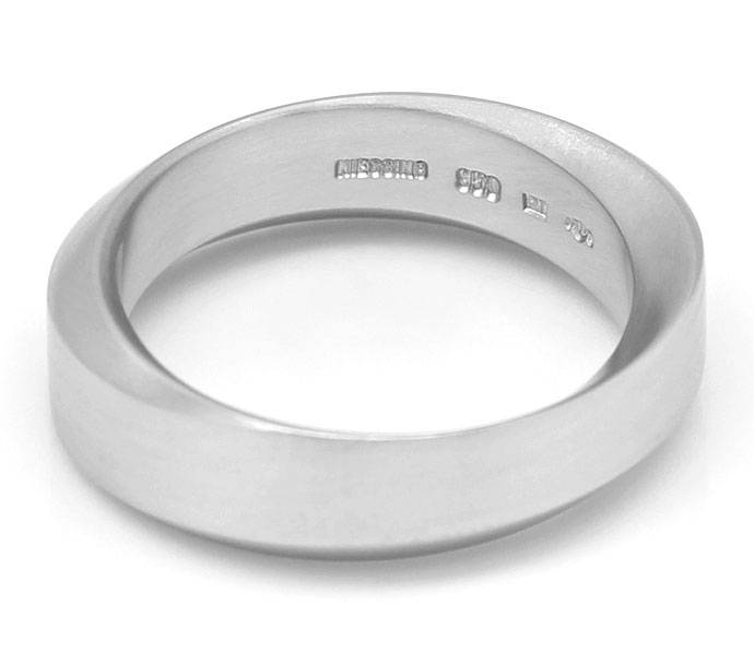 Foto 3, Niessing Designer Ring 6,5mm breit in massiv 950 Platin, R3218