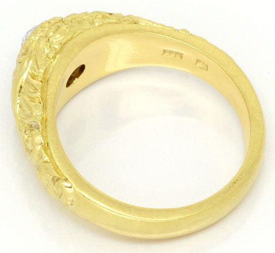Foto 3 - Diamantbandring 0,40 Altschliff Florale Gravur Gelbgold, R3300