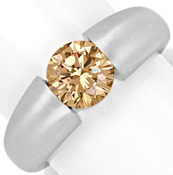 Foto 1, Brillant Spannring 1,57 ct Lupenrein Fancy Orangy Brown, R3350