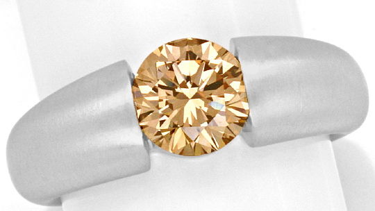 Foto 2, Brillant Spannring 1,57 ct Lupenrein Fancy Orangy Brown, R3350