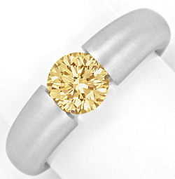 Foto 1, Brilliant-Spannring Goldbraun Super Brillanz 1,26ct 18K, R3351