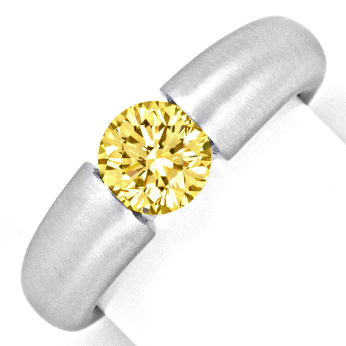 Brilliant Spannring Goldbraun Super Brillanz 1,26ct 18K, Designer Ring
