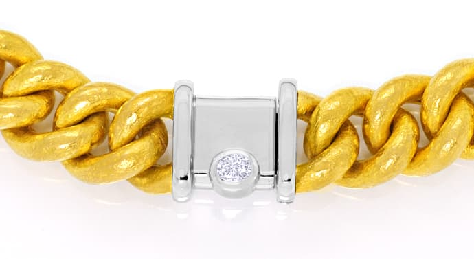 Foto 2 - Münzgold Platin Diamanten Rundpanzerkollier und Armband, R3401