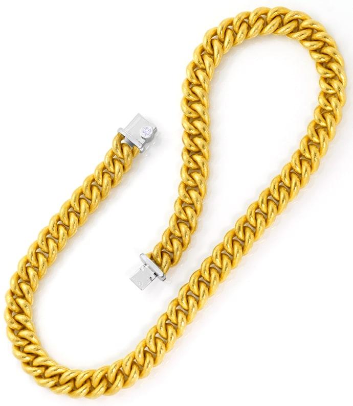 Foto 4 - Münzgold Platin Diamanten Rundpanzerkollier und Armband, R3401
