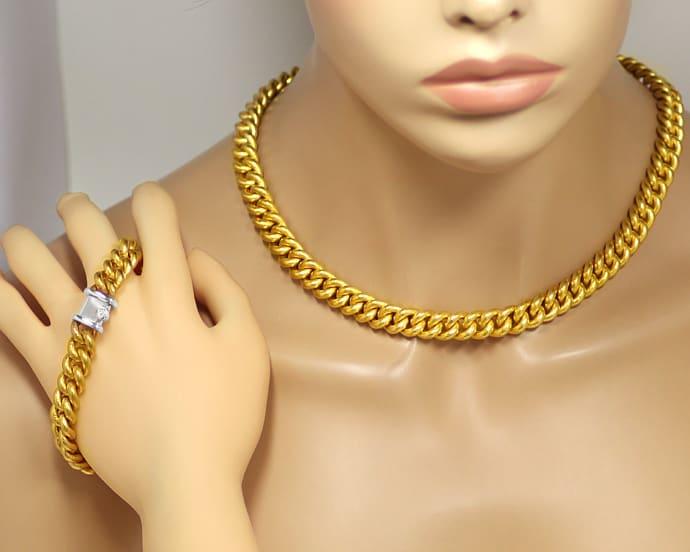 Foto 5 - Münzgold Platin Diamanten Rundpanzerkollier und Armband, R3401