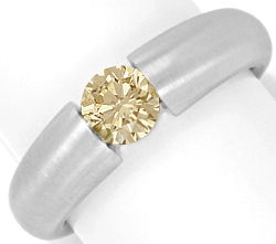 Foto 1 - Brillant Spannring Natural Fancy Yellow Brown Weissgold, R3404