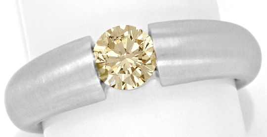 Foto 2 - Brillant Spannring Natural Fancy Yellow Brown Weissgold, R3404